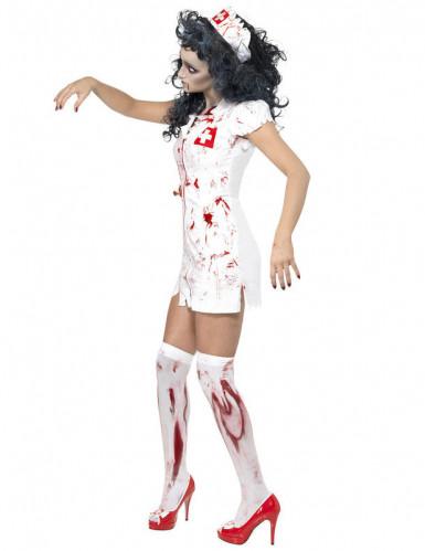 Naisten Halloween asu Zombisairaanhoitaja-1