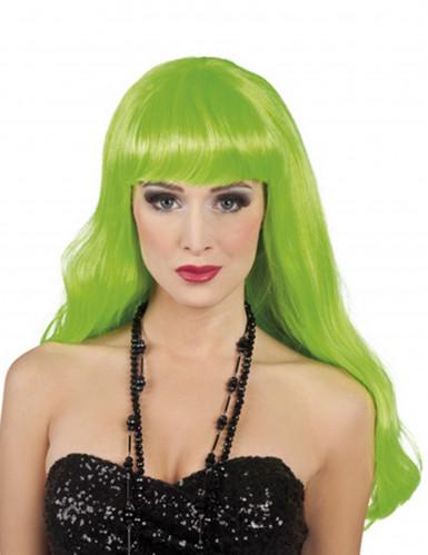 Naisten peruukki Hohtava vihreä