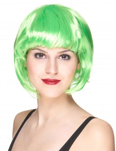 Naisten peruukki Hohtava vihreä polkka