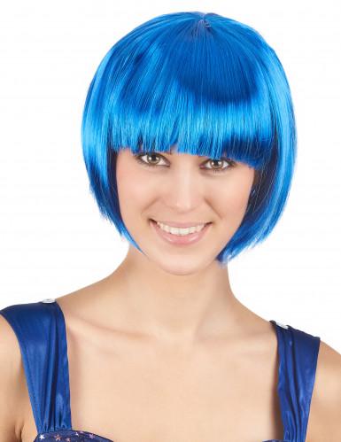Aikuisten sininen peruukki, lyhyt