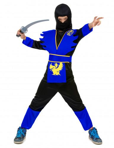 Sinisen ninjan naamiaisasu lapselle