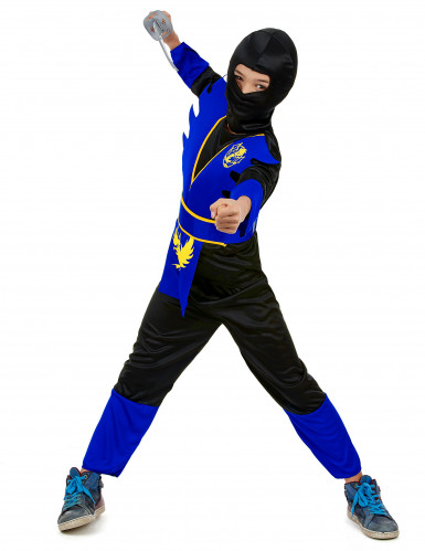 Sinisen ninjan naamiaisasu lapselle-1