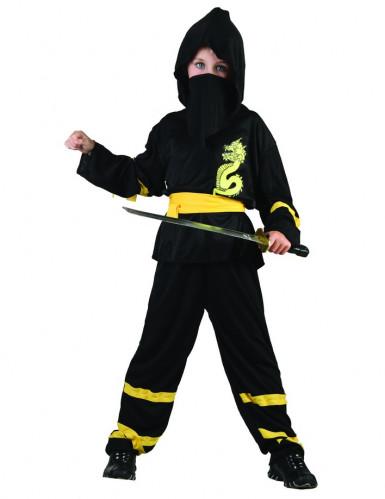Mustan ninjan naamiaisasu lapselle