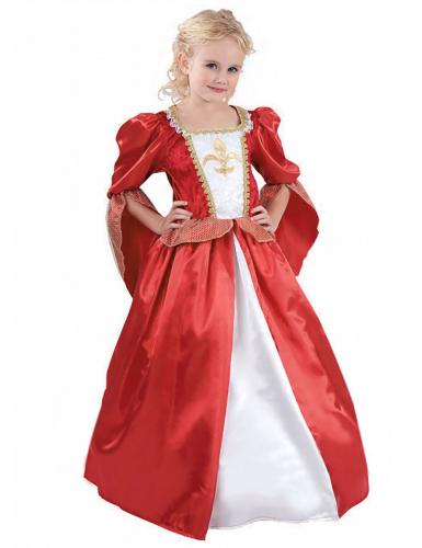 Keskiaikainen prinsessa-asu lapsille