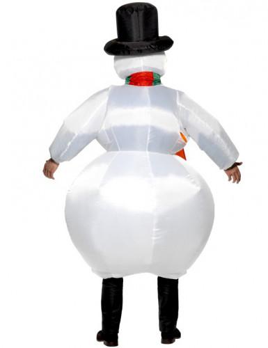 Aikuisten naamiaisasu Puhallettava lumiukko-1