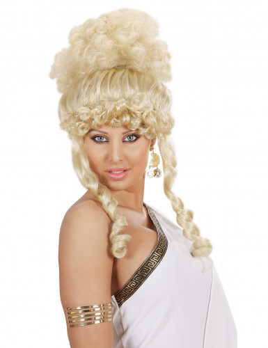 Jumalattaren vaalea peruukki naisille