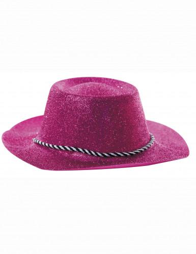 Pinkki cowboy-hattu