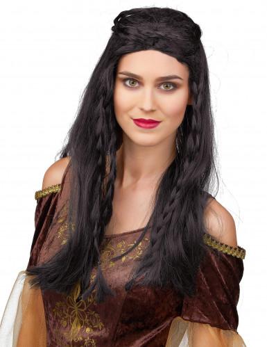 Musta peruukki Keskiaikainen nainen