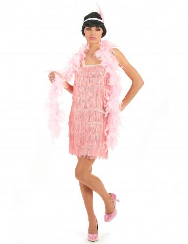 Vaaleanpunainen charleston- mekko