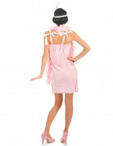 Vaaleanpunainen charleston- mekko-2