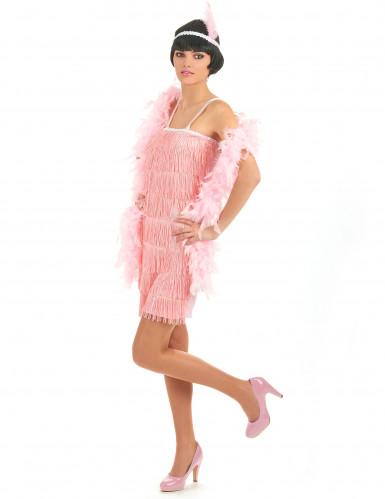 Vaaleanpunainen charleston- mekko-1