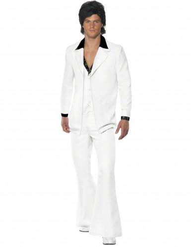 Valkoinen discopuku miehelle