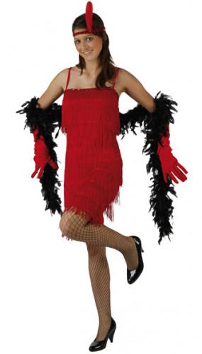 Viininpunainen charleston- mekko