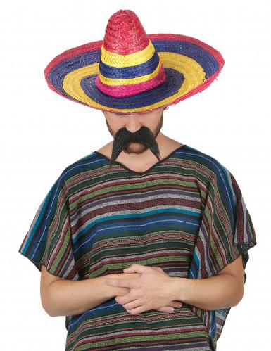 Monivärinen sombrero-hattu aikuisille-1