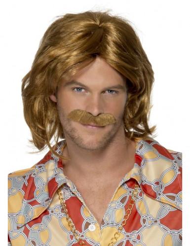 Miehen 70-lukulaiset peruukki ja viikset