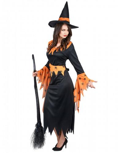 Oranssi noita - Halloweenmekko naisille-1