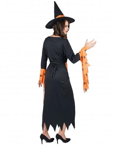 Oranssi noita - Halloweenmekko naisille-2