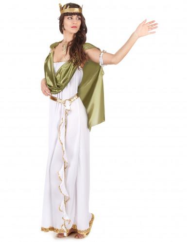 Kreikkalaisen jumalattaren asu vihreällä viitalla-1