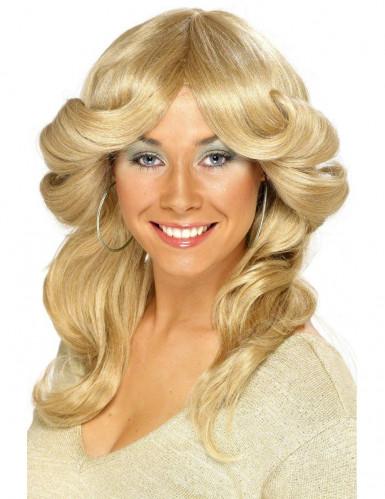 70-luvun blondi peruukki naiselle