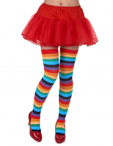 Raidalliset sukkahousut monissa väreissä
