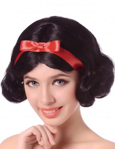 Satuprinsessan musta peruukki naisille