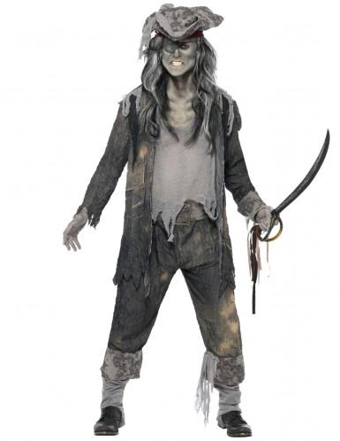Miesten kummitusmerirosvo Halloween-naamiaisasu