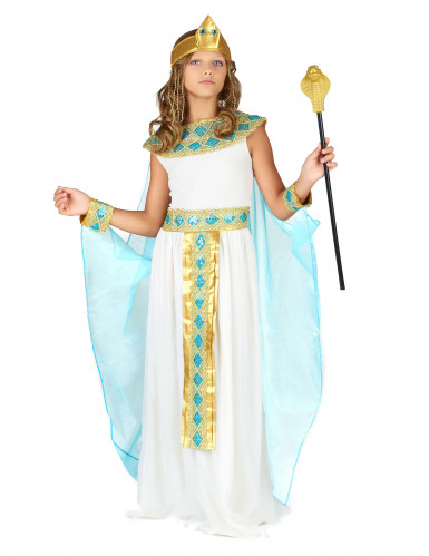 Egyptin kuningatar -asu kultaisilla yksityiskohdilla lapsille