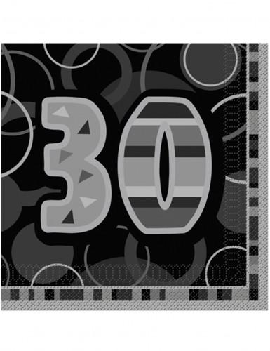 16 paperiservettiä 30-vuotisjuhliin