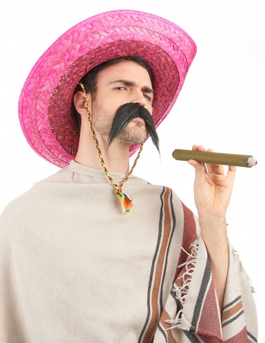 Vaaleanpunainen meksikolainen sombrero-hattu aikuisille-1
