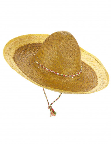 Aikuisten keltainen meksikolainen sombrero
