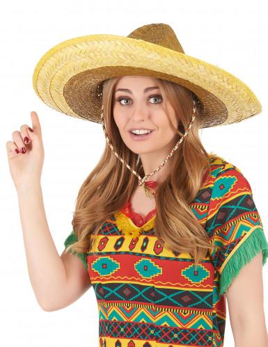 Aikuisten keltainen meksikolainen sombrero-2