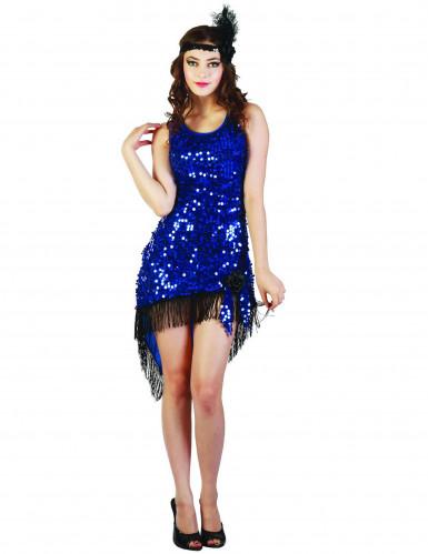 Seksikkään sininen charleston- mekko