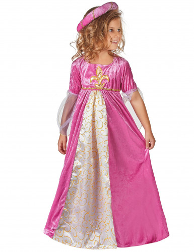 Netio Pinkki - Keskiaikainen prinsessa mekko lapsille