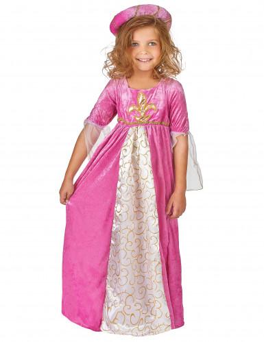 Netio Pinkki - Keskiaikainen prinsessa mekko lapsille-1