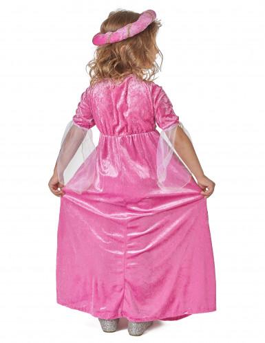 Netio Pinkki - Keskiaikainen prinsessa mekko lapsille-2
