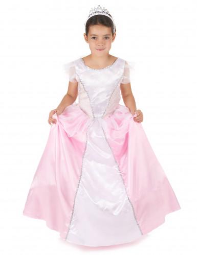 Vaaleanpuna-valkoinen prinsessa-asu lapsille