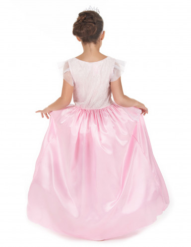 Vaaleanpuna-valkoinen prinsessa-asu lapsille-2