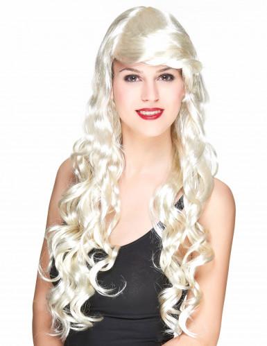Naisten peruukki Pitkät vaalean kiharat glamour hiukset