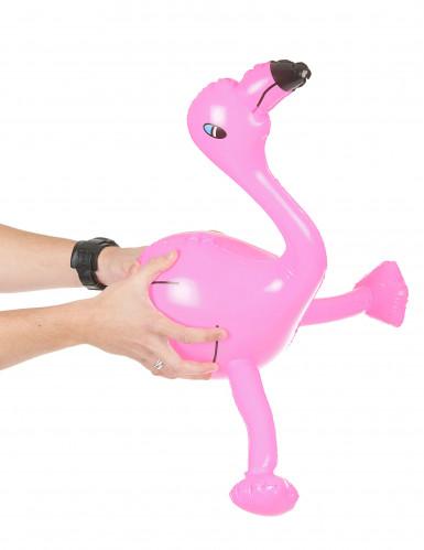 Puhallettava vaaleanpunainen flamingo-1