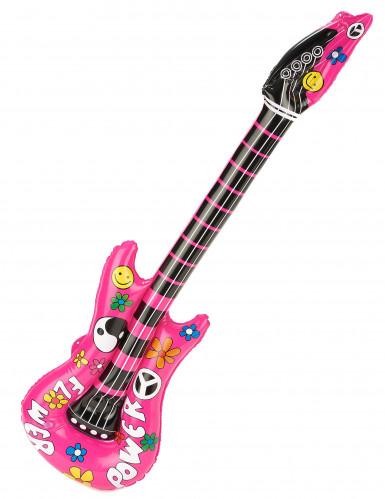 Puhallettava vaaleanpunainen kitara