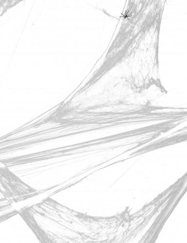 Koristeellinen hämähäkinverkko mustilla hämähäkeillä 100 g - Halloween-1