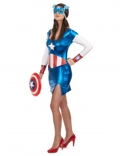 Kapteenitar Amerikan naamiaisasu aikuiselle-1