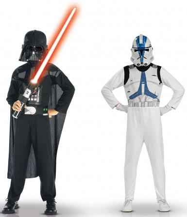 Lasten Star Wars™-naamiaisasusetti - sis.Darth Vaderin ja Clone Trooperin naamiaisasut
