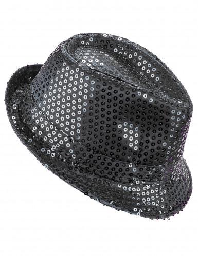 Musta borsalino-hattu aikuisille
