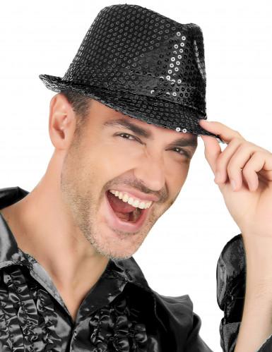 Musta borsalino-hattu aikuisille-1