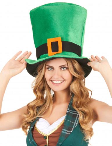 St Patrick's hattu vihreästä velourista-1