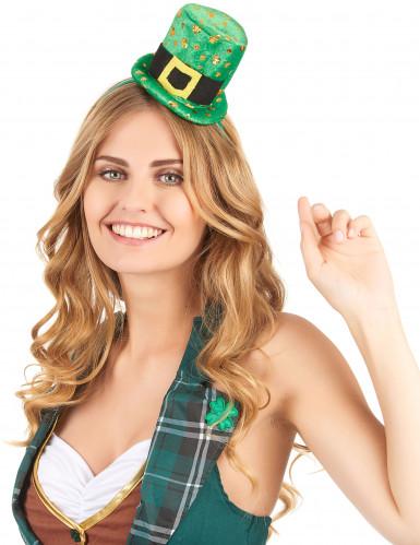 Naisten hiuspanta St Patrick's -minihattu-1