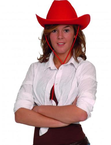 Punainen cowboyhattu aikuiselle