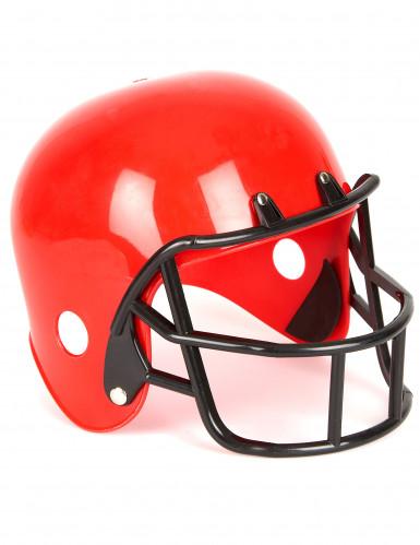Amerikkalaisen jalkapallon punainen kypärä lapselle
