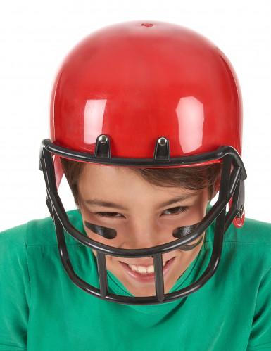 Amerikkalaisen jalkapallon punainen kypärä lapselle-2